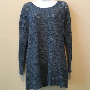 Lucky Brand Blue Sweater w/Laced Back